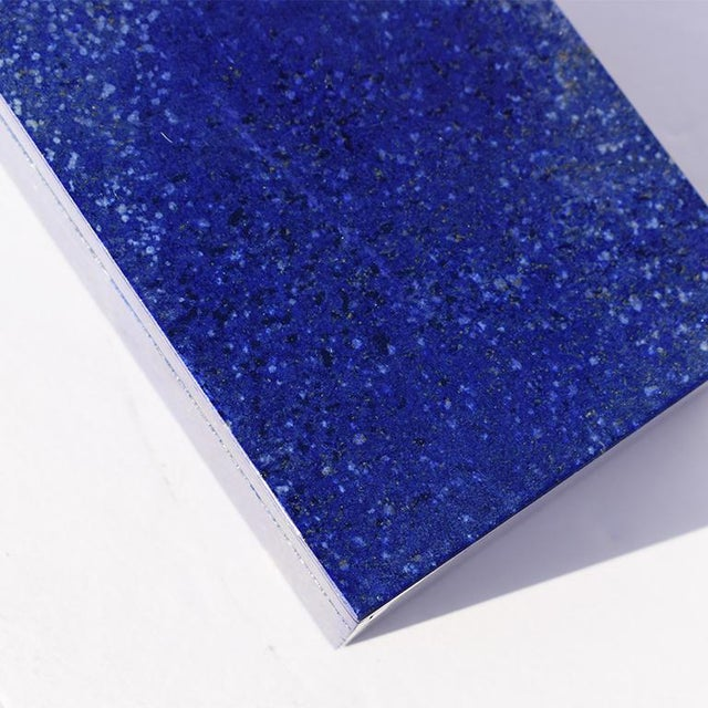 Abstract Blue Lapis Lazuli and Marble Stone Rectangular Decorative Jewelry or Trinket Box For Sale - Image 3 of 7