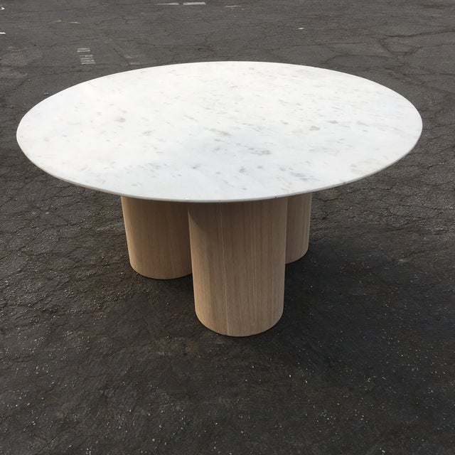 Reimagined oversized pillar dining table, originally designed and handcrafted for a client space in mind we went ahead and...