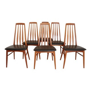 "Danish Modern Niels Koefoed ""Eva"" Dining Chairs - Set of 6 For Sale"