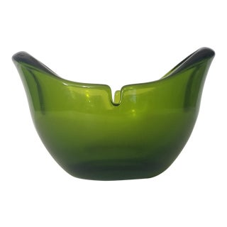 1960s Modern Green Biomorphic Ashtray For Sale