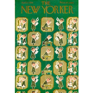 1955 New Yorker Cover, April 2 (Rea Irvin), Business, City Life For Sale