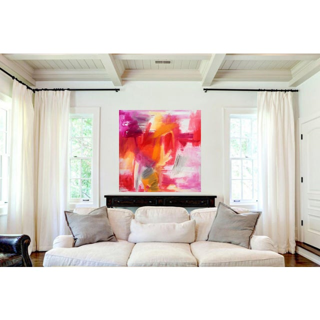 "Canvas ""Morning Glory"" by Trixie Pitts Large Abstract Expressionist Oil Painting For Sale - Image 7 of 13"