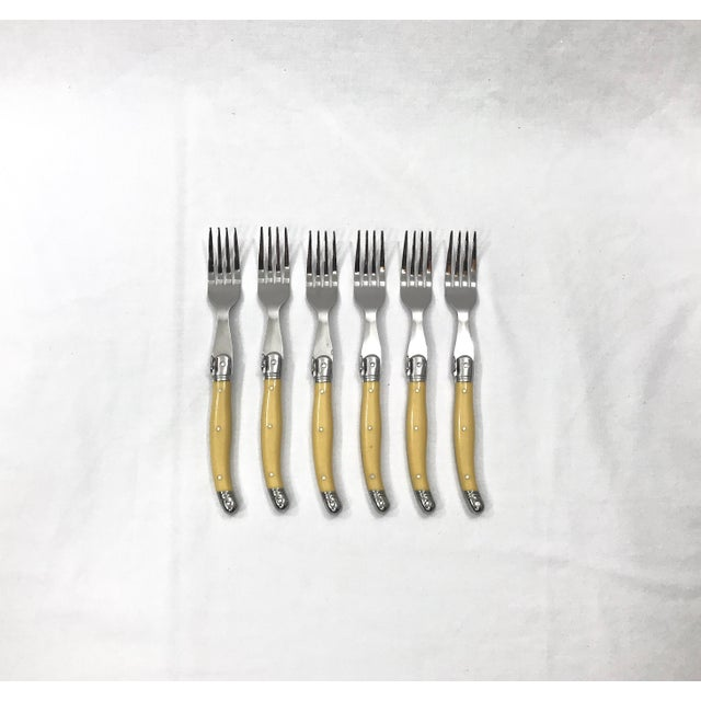 FlyingColors Laguiole steak for and knife cutlery set for six. Features 6 pieces premium steak knives and forks. Classic...