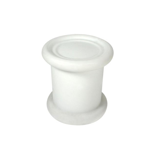 Koch + Lowy 'Tablette' White Satin Triplex Glass Lamp For Sale