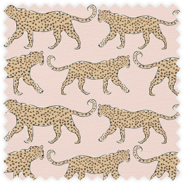 This is a decorative pillow featuring a leopard design on blush home decor weight. For a custom made look, the same fabric...
