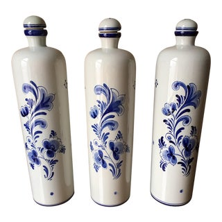 Erven Lucas Liquor Decanters - Set of 3 For Sale