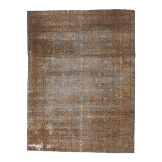 Distressed Antique Turkish Sparta Area Rug with Modern Industrial Style