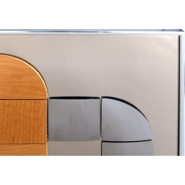 Hal Bienenfeld Geometric Op Art Decorative Mirrored Wall Sculpture For Sale In Miami - Image 6 of 9