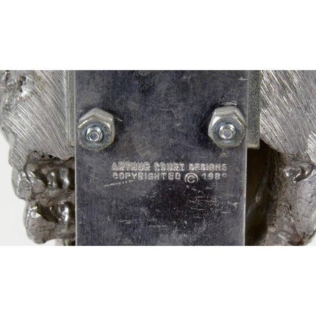 Metal Late 20th Century Arthur Court Kudu Antelope Skull Sculpture For Sale - Image 7 of 8