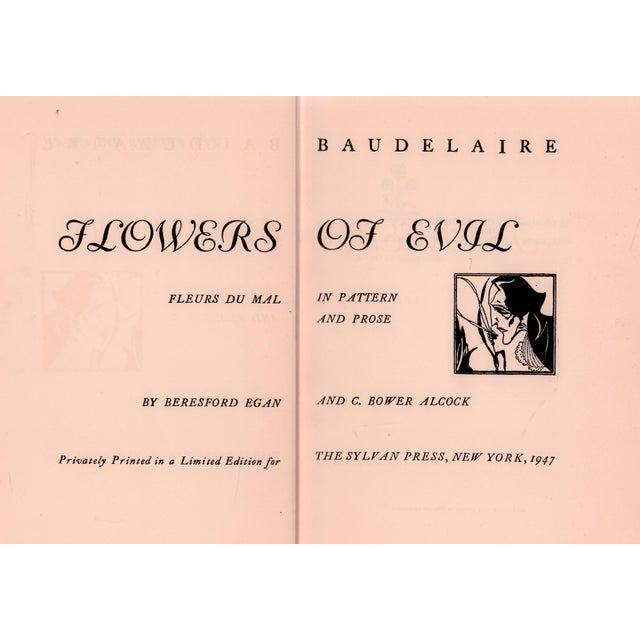 """Booth & Williams 1947 """"Flowers of Evil"""" Collectible Book For Sale - Image 4 of 5"""