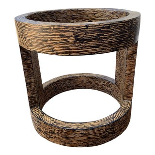 Contemporary Palmwood and Resin Table Bases - 2 Piece For Sale