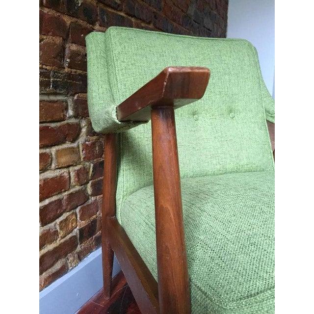 Mid-Century Danish Modern Oak Accent Chair - Image 3 of 5
