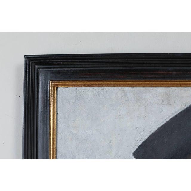 1940s portrait oil painting on board. Signature bottom left, Charl Pierre Bernardo. Some cracking.