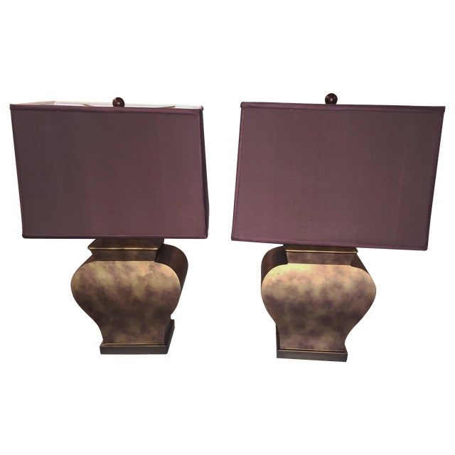 Vintage Bronze Urn Lamps - A Pair - Image 1 of 5