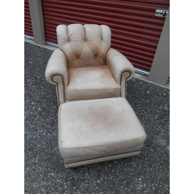 Phenomenal Leathercraft Club Chair Ottoman Set Cjindustries Chair Design For Home Cjindustriesco