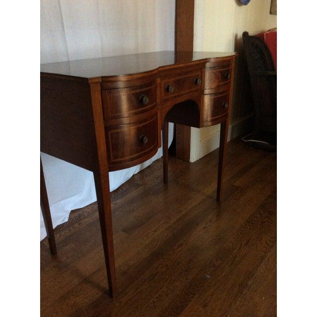 Hepplewhite Mahogany Inlay Desk For Sale - Image 11 of 13