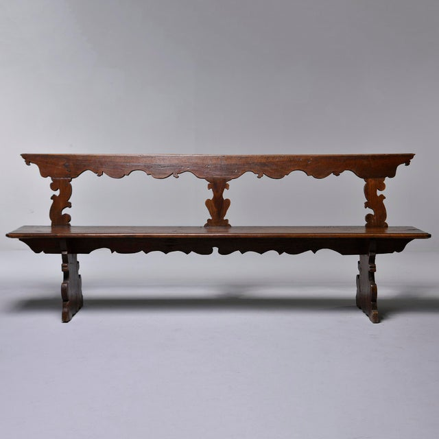 19th Century Italian Primitive Hand Carved Bench For Sale - Image 13 of 13
