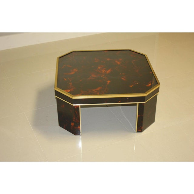 1970s 1970s French Mid-Century Modern Coffee Table by ''Sign Jean Claude Mahey '' For Sale - Image 5 of 13