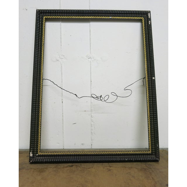 Antique Ripple picutre frame circa 1850. There are some losses and chips on the frame and a dent to one edge. Gold liner....