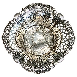 Queen Victoria's Diamond Jubilee Sterling Commemorative Bowl For Sale