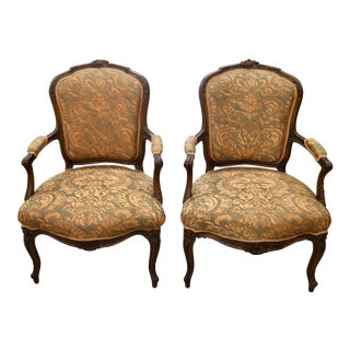 Venetian Painted and Gilded Armchairs - a Pair