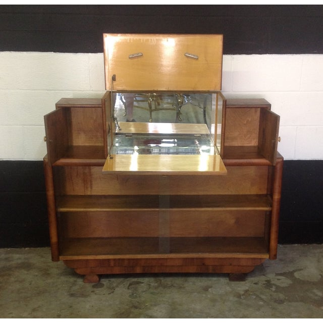 Art Deco Style Wooden Bar Cabinet - Image 3 of 11