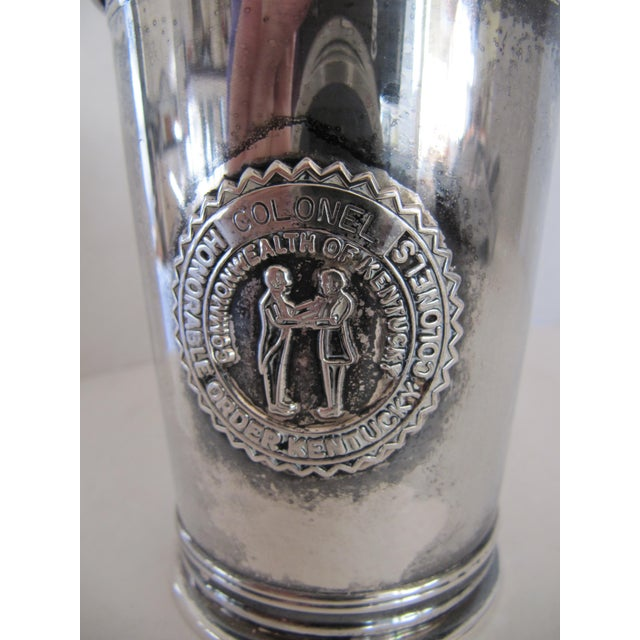 """Vintage mint julep cup with seal on front for """"Honorable Order of Kentucky Colonels."""" Marked on reverse, Gorham E.P...."""