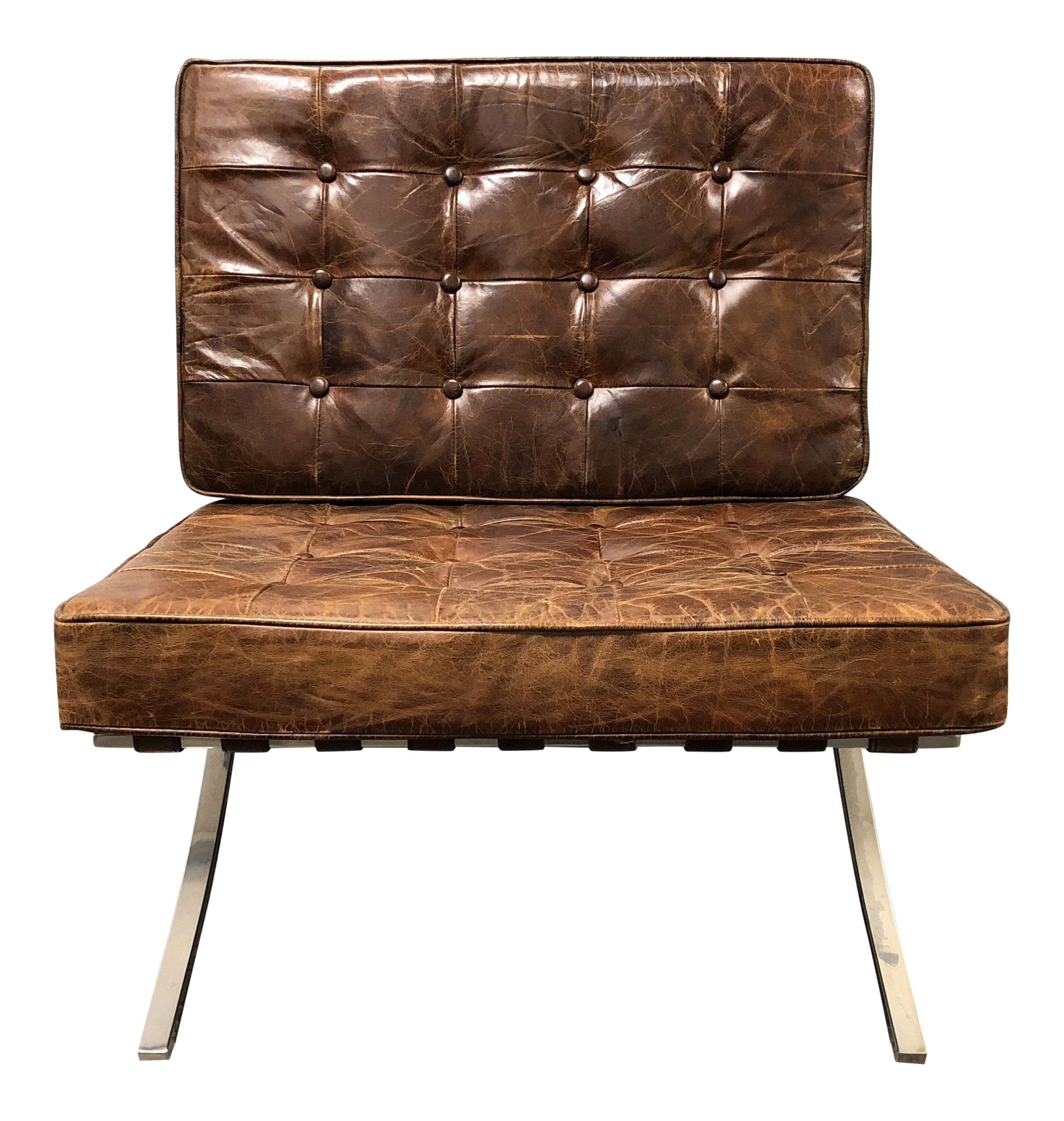 Four Hands Hugo Distressed Cigar Leather Chair