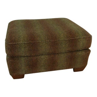 Large Lee Industries Ottoman Stool in Animal Print For Sale