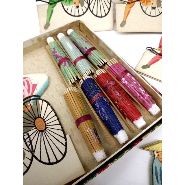 Vintage Japanese Paper Umbrella & Rickshaw Placeholders Set - Image 6 of 9