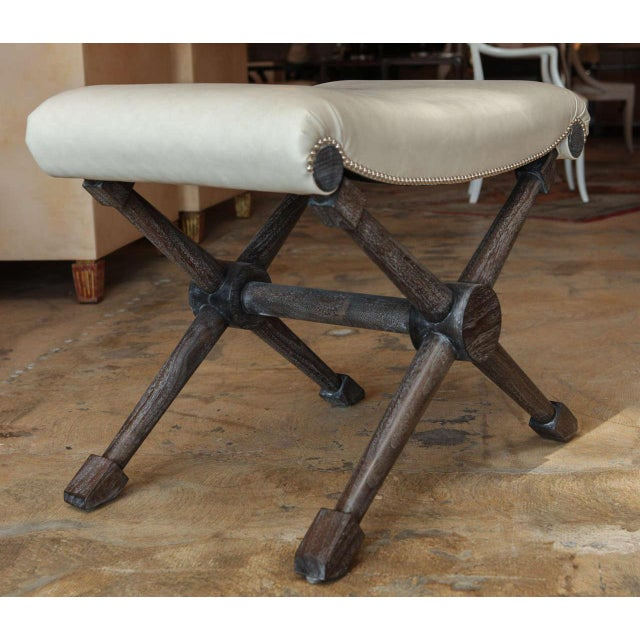 X-Base Bench in Leather For Sale In Los Angeles - Image 6 of 7
