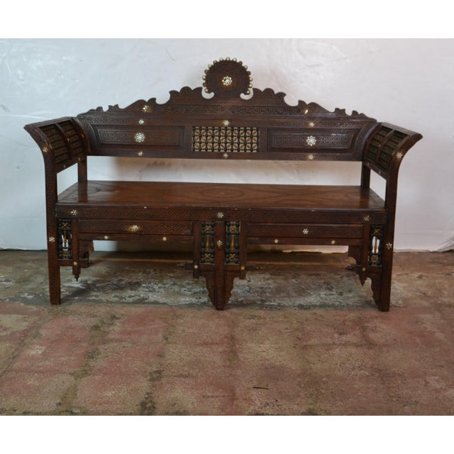1940s Vintage Syrian Bench For Sale - Image 10 of 10