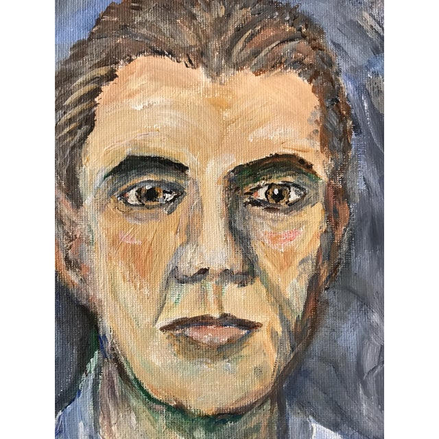 Abstract Expressionism Hand Painted Portrait of a Man For Sale - Image 3 of 5