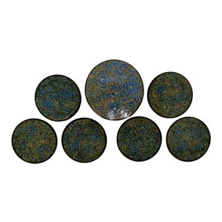 Kashmiri Coasters, 7 Pieces For Sale