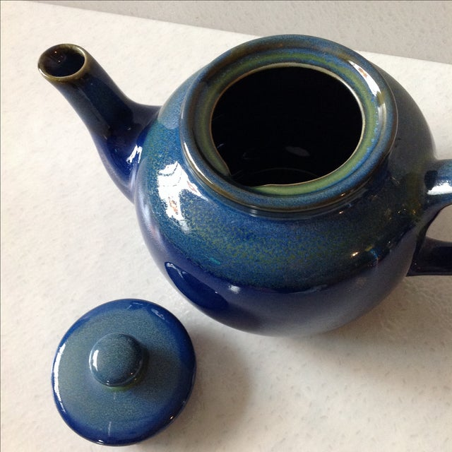 Cobalt Blue Ceramic Teapot - Image 5 of 7