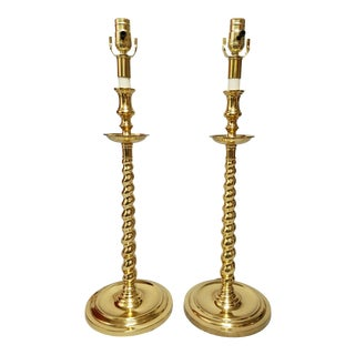 Chapman Brass Table Lamps - a Pair For Sale