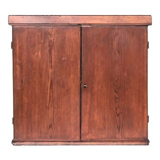 Antique Locking Pine Cupboard For Sale