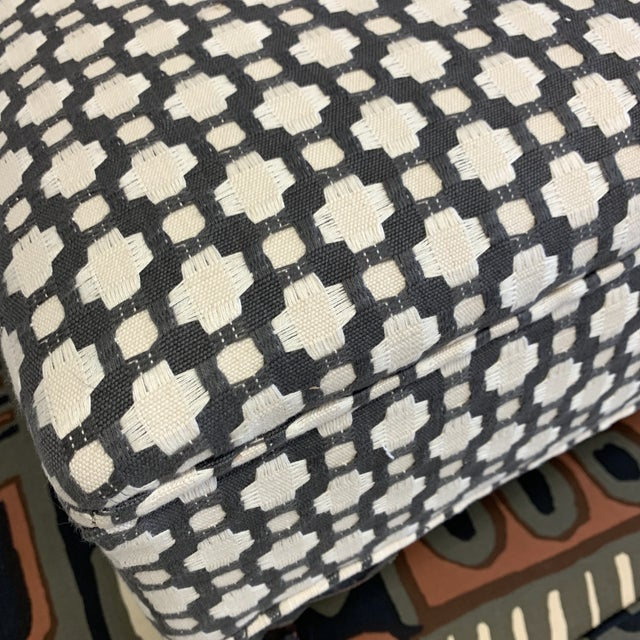 Textile Schumacher Betwixt Vintage Foot Stool For Sale - Image 7 of 13