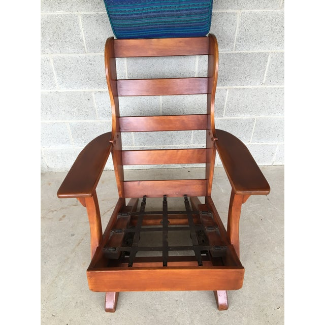 Wood Circa 1930's Cushman Colonial Creations Plymouth Platform Rocker For Sale - Image 7 of 9