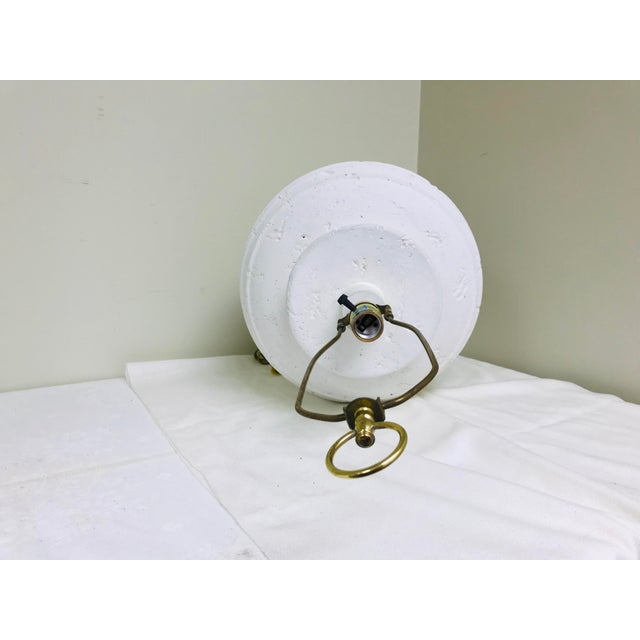 1980s Vintage Cresswell White Pottery Oversized Table Lamp For Sale - Image 5 of 8