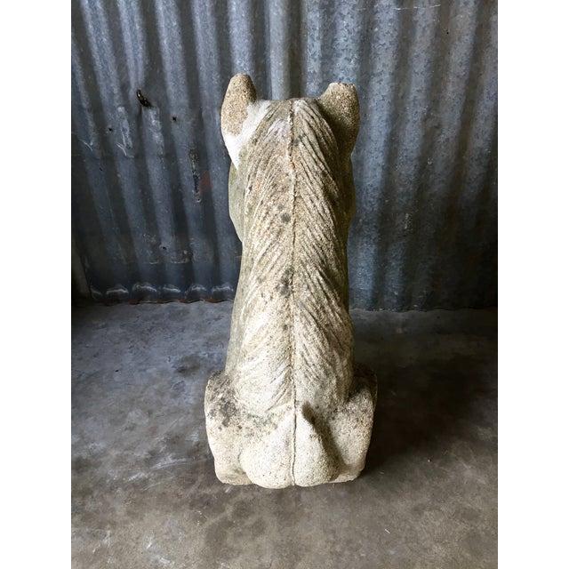 Antique Concrete Horse Head For Sale - Image 7 of 11