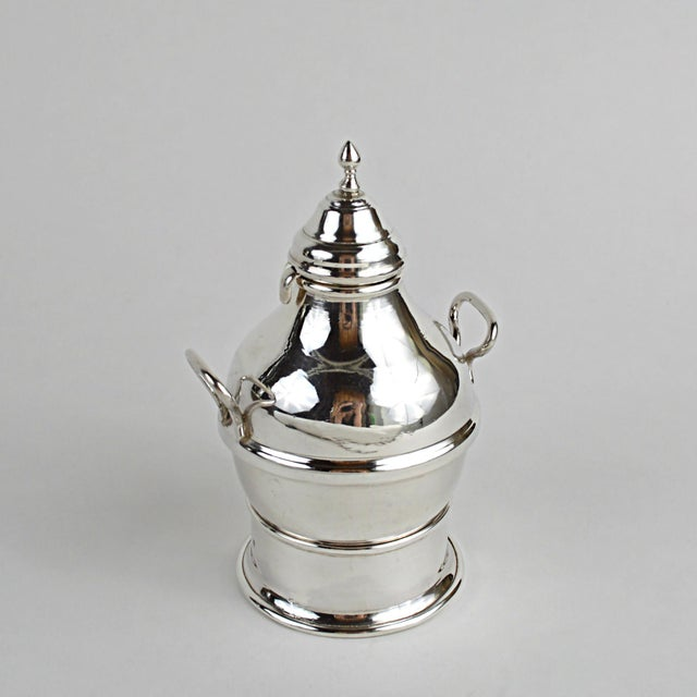 Egyptian Sterling Silver Warming Pot - Image 3 of 10