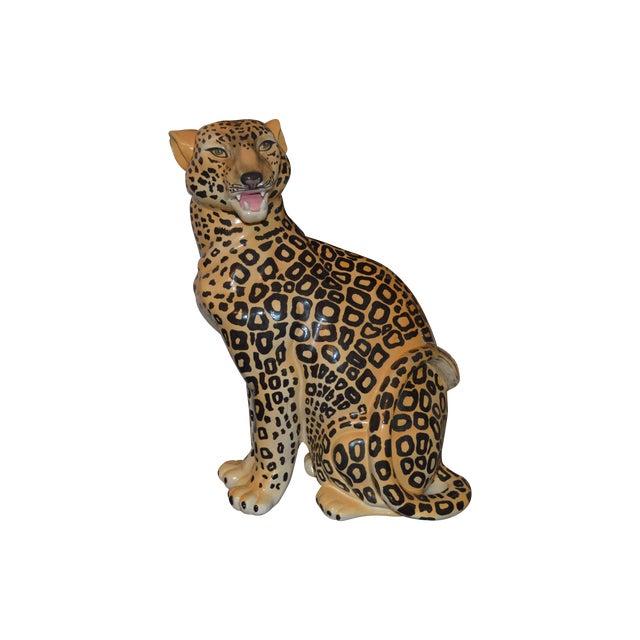 Vintage Leopard Statue - Image 1 of 4