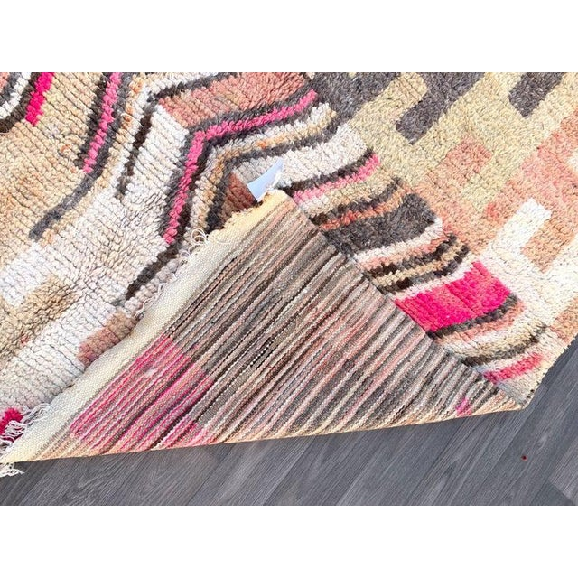 1970s Berber Moroccan Rugs-5′10″ × 9′4″ For Sale - Image 5 of 9