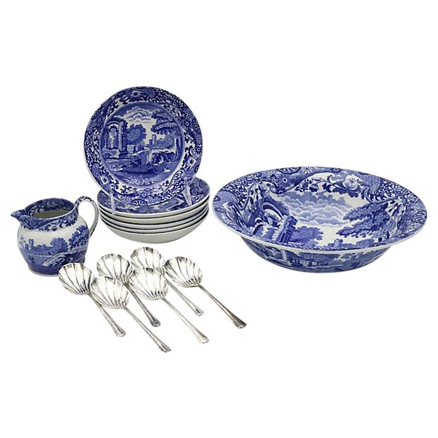 Spode Italian Fruit Set - 14 Pieces - Image 1 of 6