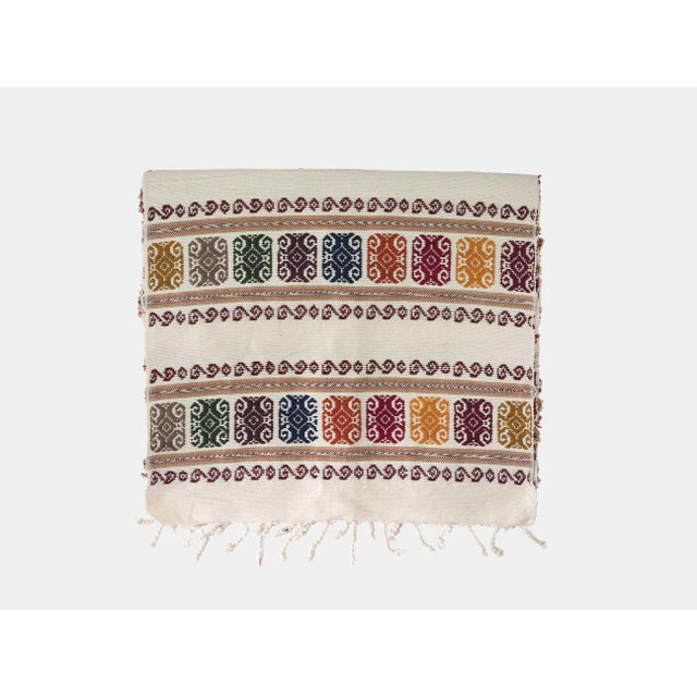 San Miguel Embroidered Table Runner For Sale - Image 4 of 4