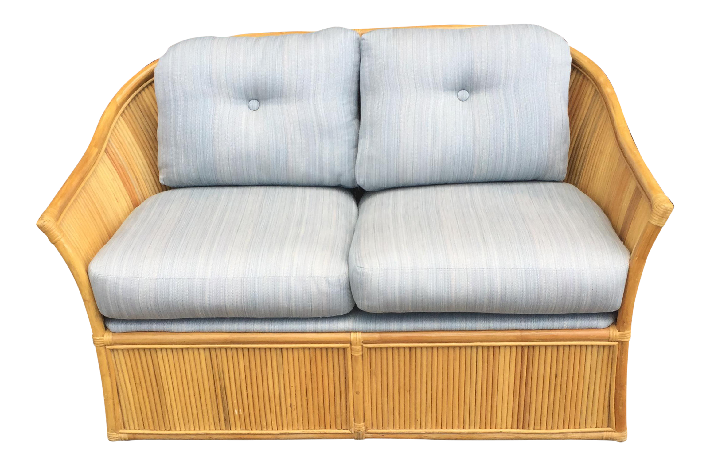 Danish Modern Bamboo Loveseat Chairish