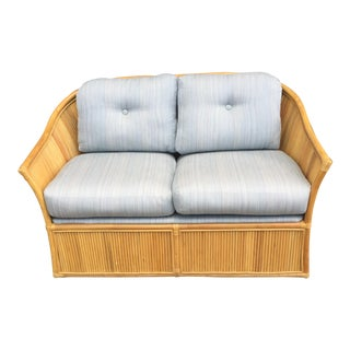 Danish Modern Bamboo Loveseat
