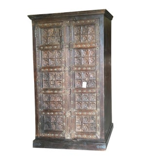 28th Century Antique Indian Wardrobe Armoire