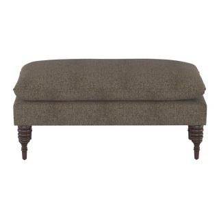 Pillowtop Bench in Aiden Sterling For Sale